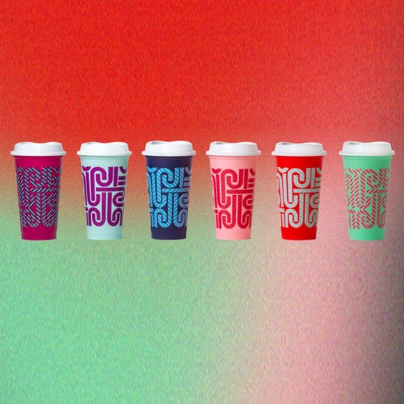 Starbucks 6-pk 2020 Colour Changing Hot Cup 16oz